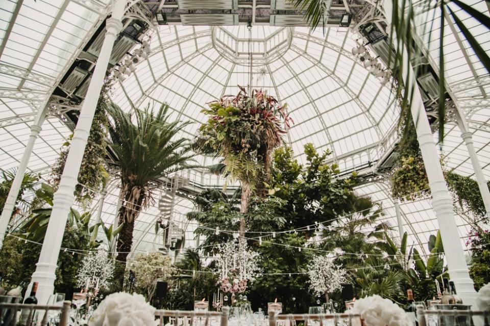 sefton palm house wedding decor