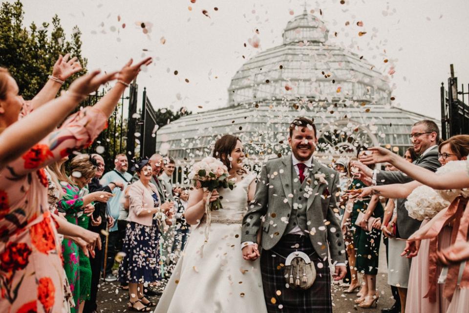 confetti , liverpool city wedding