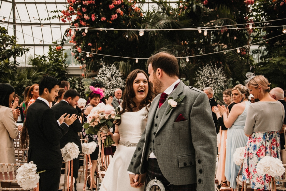 bride and groom pot wedding ceremony