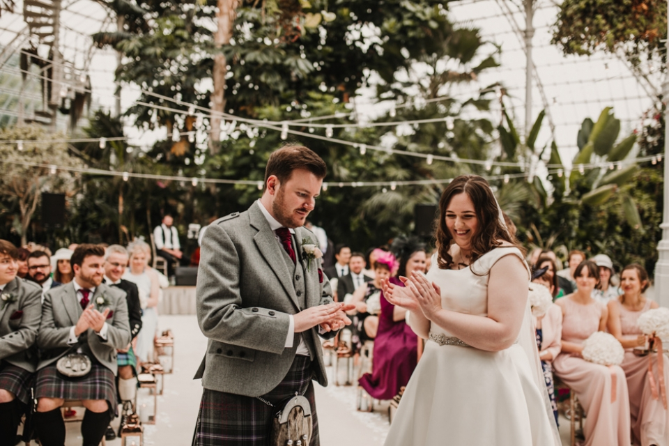 exchanging rings , liverpool wedding