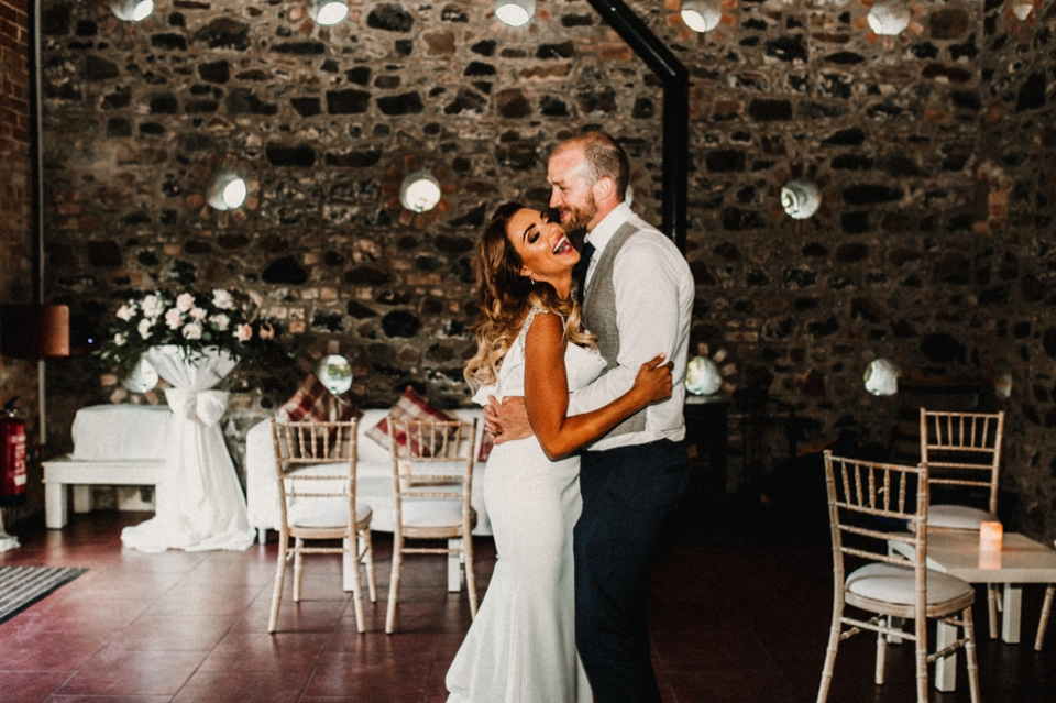 first dance in the barn at Riverdale , northern ireland