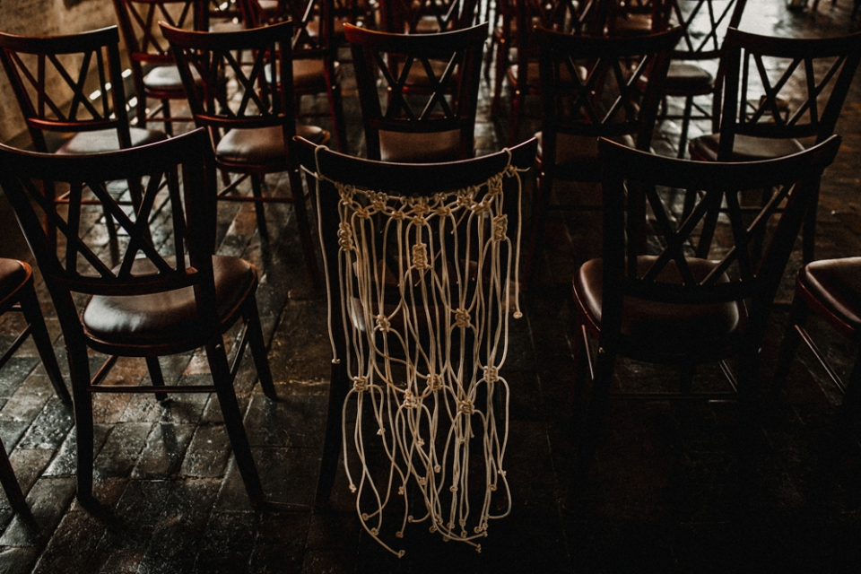 wedding char decor