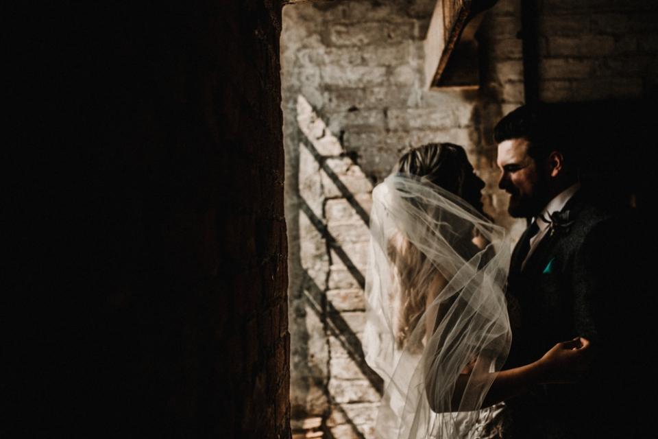 alternative wedding photography at th west mill wedding venue
