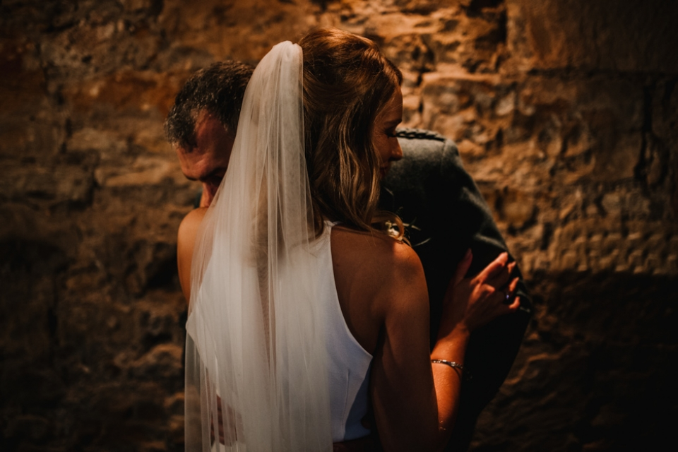 indoor wedding photography at kinkell byre ceremony room