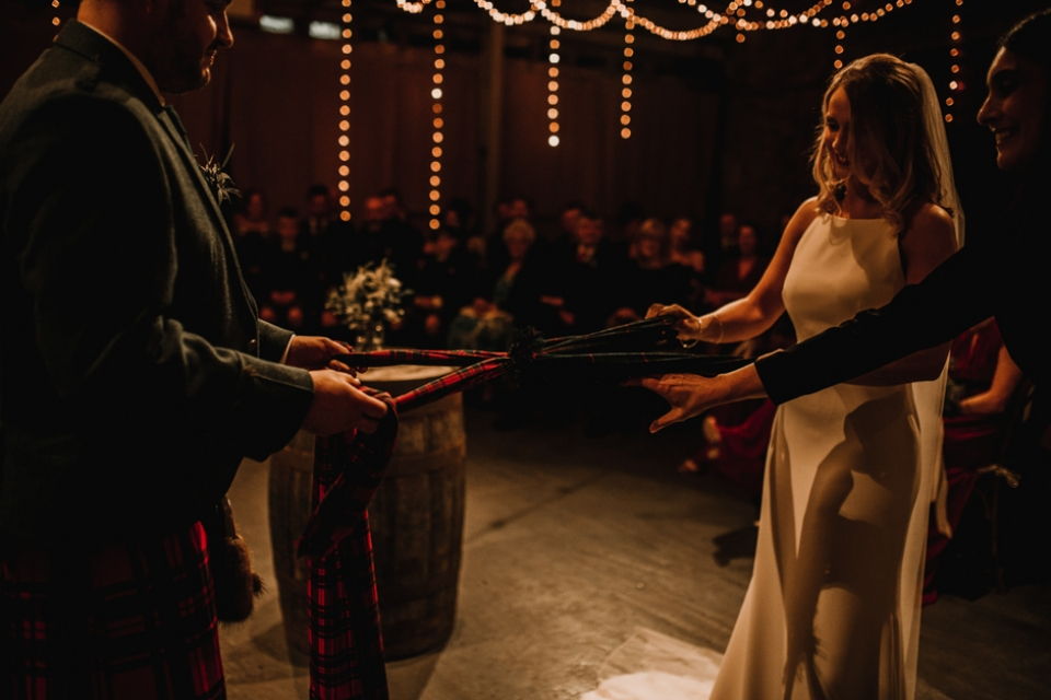 hand fasting ceremony at kinkell byre