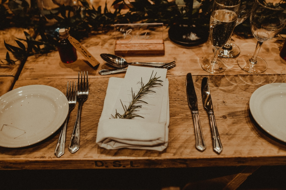 place settings at kinkell Byre