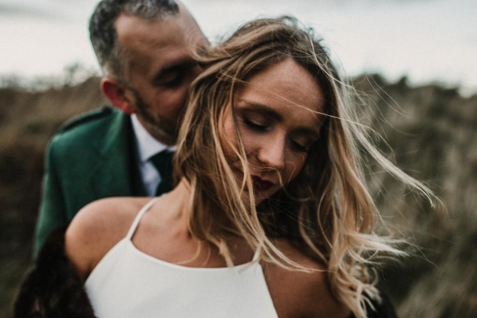 beautiful intimate wedding portraits at scotland , st andrews wedding venue