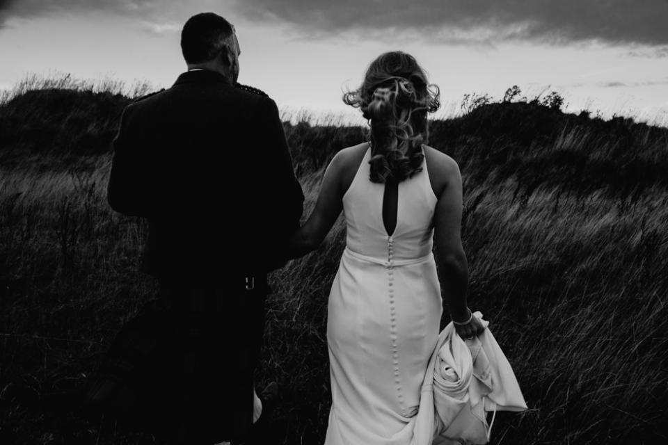 black and white creative wedding photography in scotland wedding venue