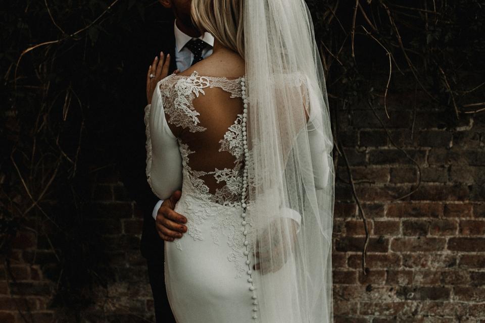 pronovias gown wedding dress details
