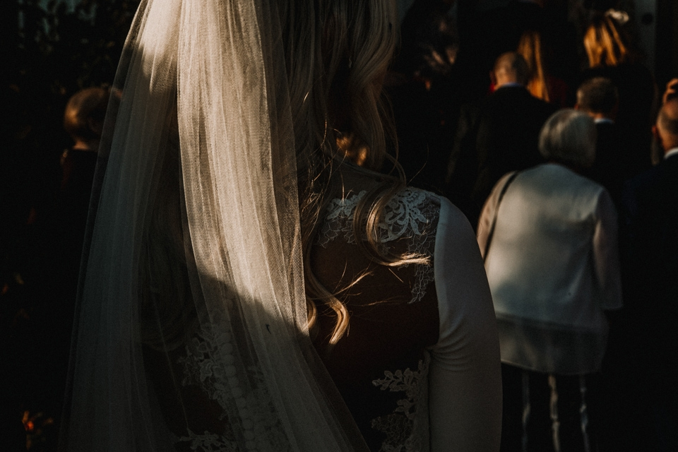 bride greeting her guests post ceremony