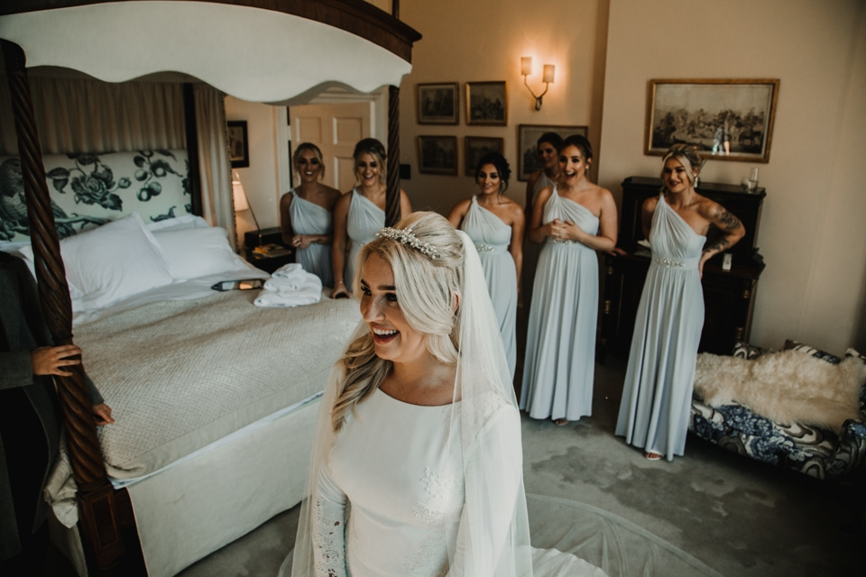 bridesmaids reaction to dress