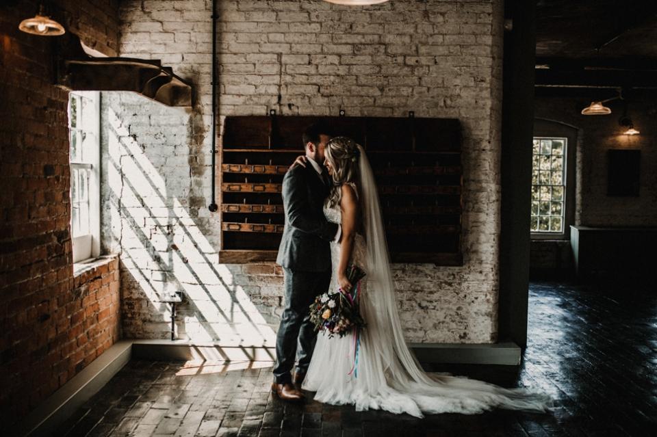 west mill derby , creative light , dramatic light wedding photography