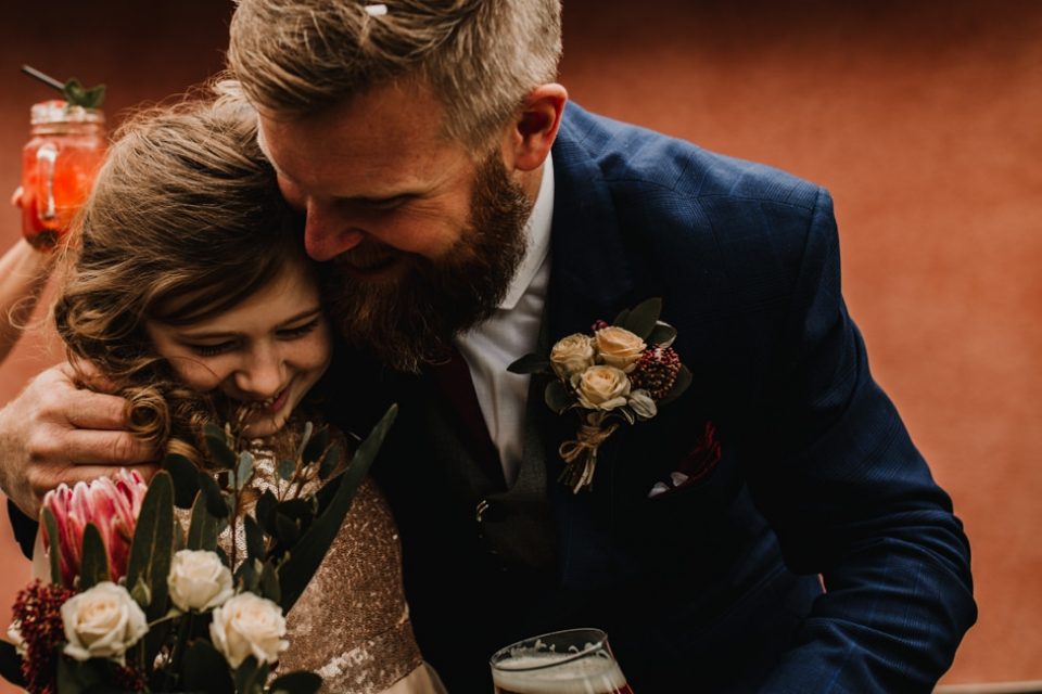 a groom and his niece