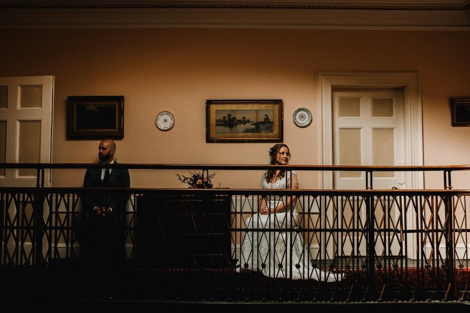 bride and groom alternative wedding photography devon wedding