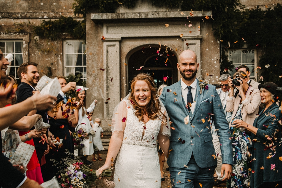 confetti throwing at buckland house