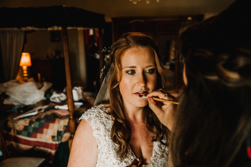 last minute makeup touch up devon wedding