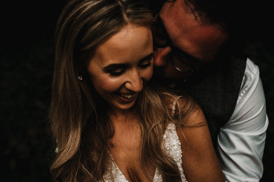 intimate evening bridal portraits in cornwall crabs bay
