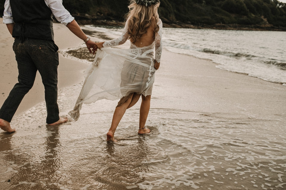 grace loves lace bohemian beach wedding