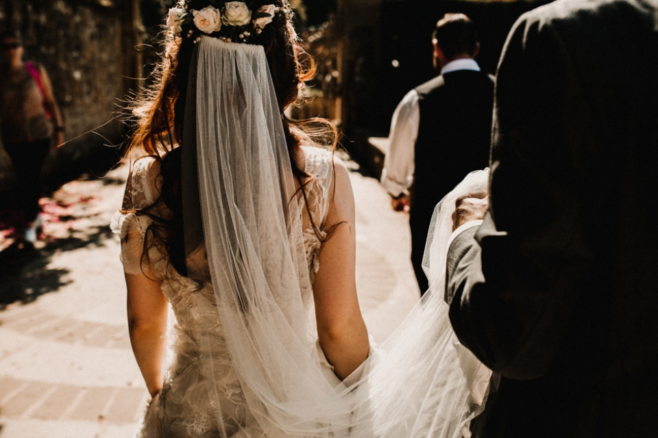 the evil and flower crown , Kent castle wedding