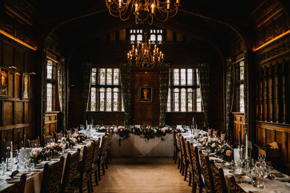 the wedding breakfast room at Hever Castle