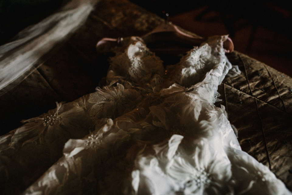 the wedding dress , couture
