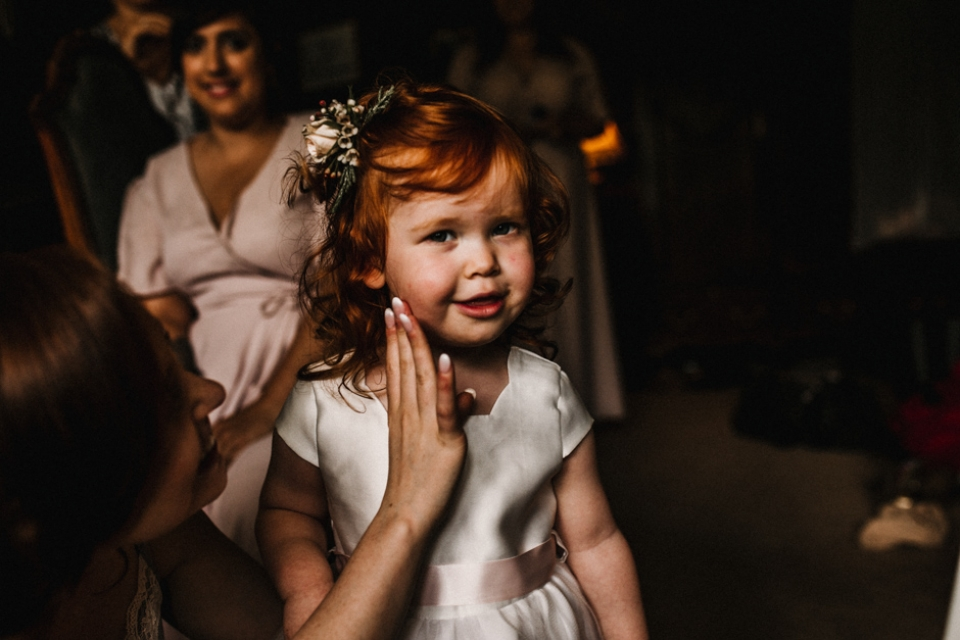 brides daughter and flower girl , Opheilia