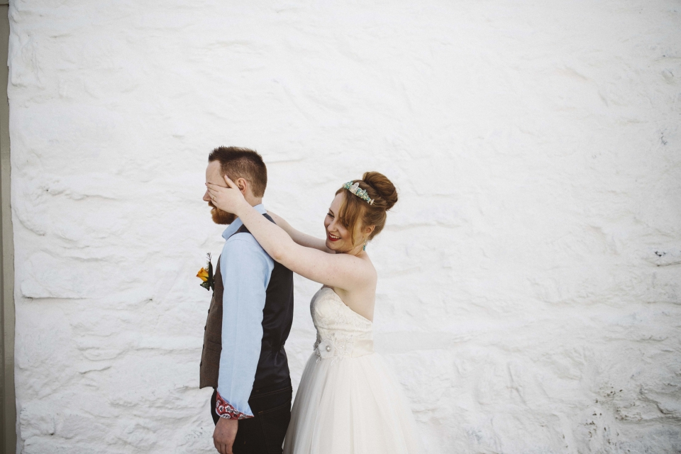 first look, hafod farm, wedding photography