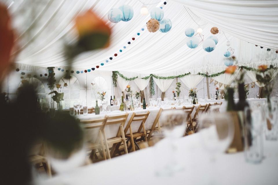 marquee weddings, hafod farm