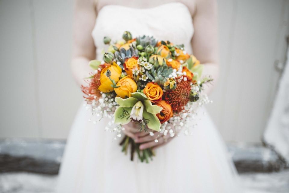 colour bouquet,  by flower power