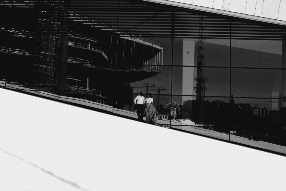 oslo opera theatre and couple pre shoot