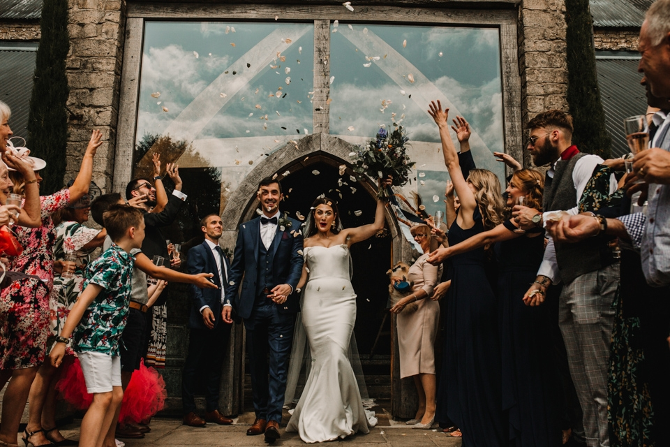 confetti celebrations in the cripps barn wedding venue