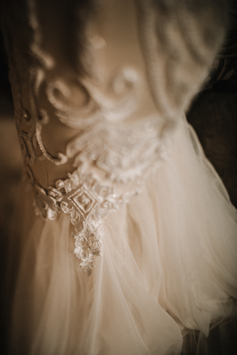 brides dress details , river dale barn