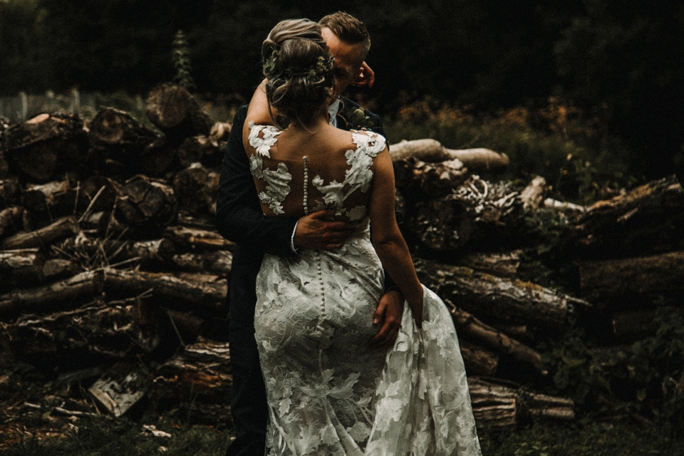 beautiful dark and  moody wedding photography